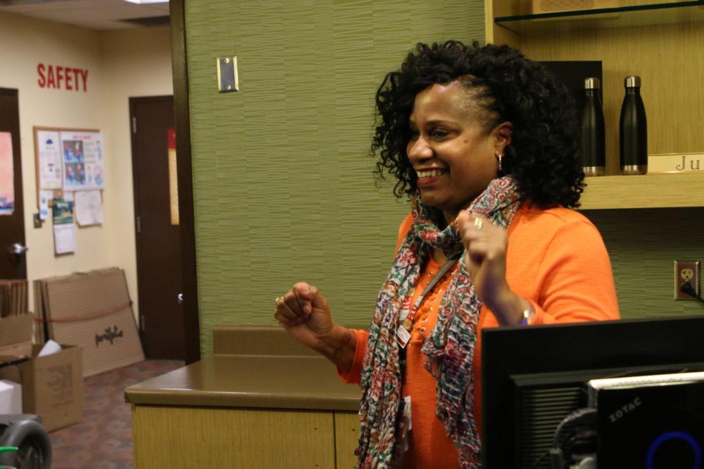 Cynthia Johnson dancing at the Players Club at Muckleshoot Casino in Auburn, Washington.