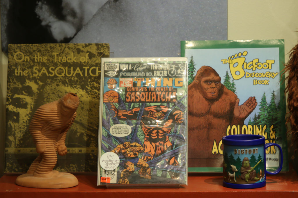 Modern items featuring Sasquatch at the White River Valley Museum in Auburn, WA