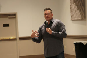 Litefoot Speaking to Muckleshoot Tribal Members