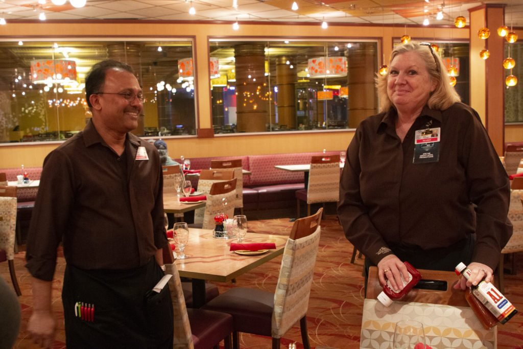 Marie and coworker at Coyaba Grill at Muckleshoot Casino