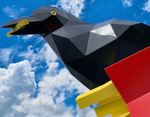 Crow With Fries by Peter Reiquam