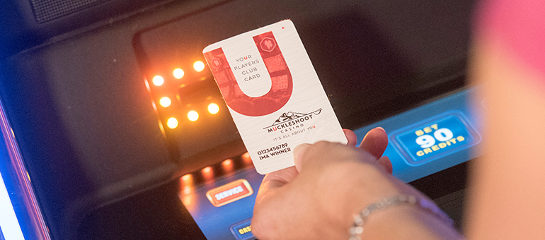 Players Club card at Muckleshoot Casino