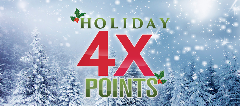 Holiday 4x points at Muckleshoot Casino