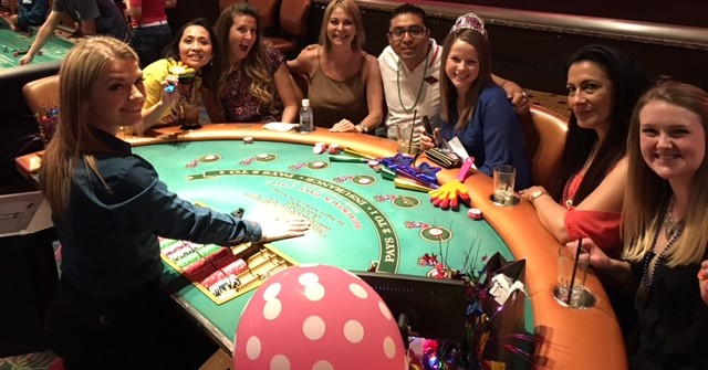 Private Party at Casino Table